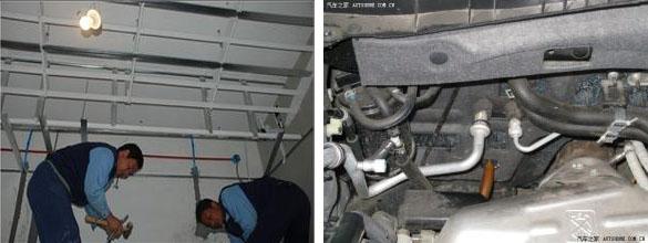 家庭空调排水管使用自控温电热带防冻结