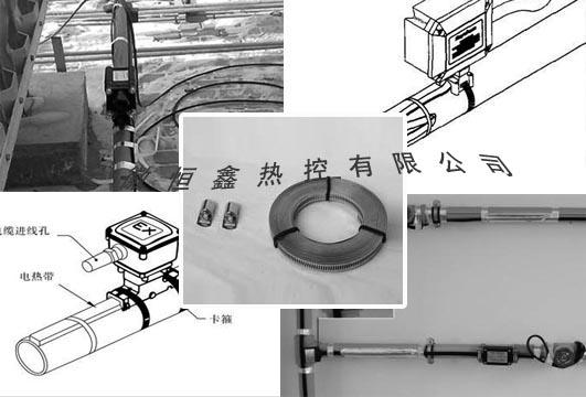 使用电伴热带安装在管线的表面